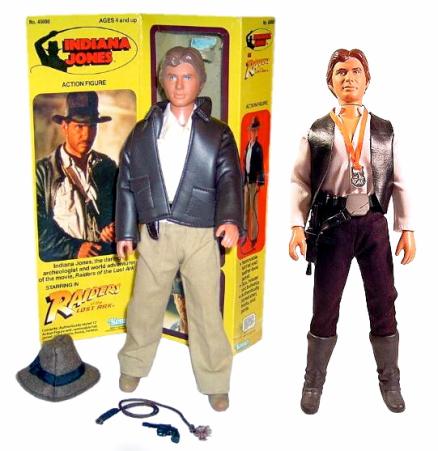 Indiana Jones Figure + Han Solo Comparision