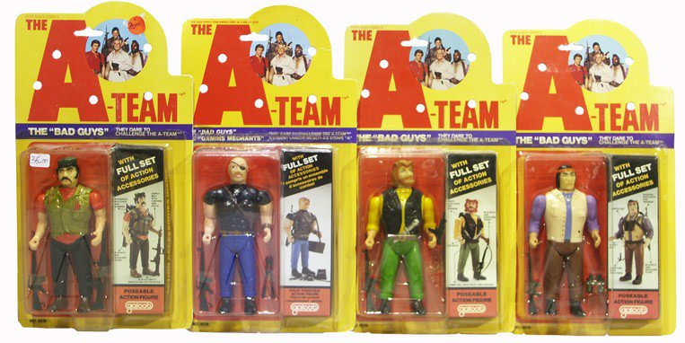"""The A-Team Galoob 1983 Action Figures Many Complete 3.75/"""" MULTI-LISTING"""