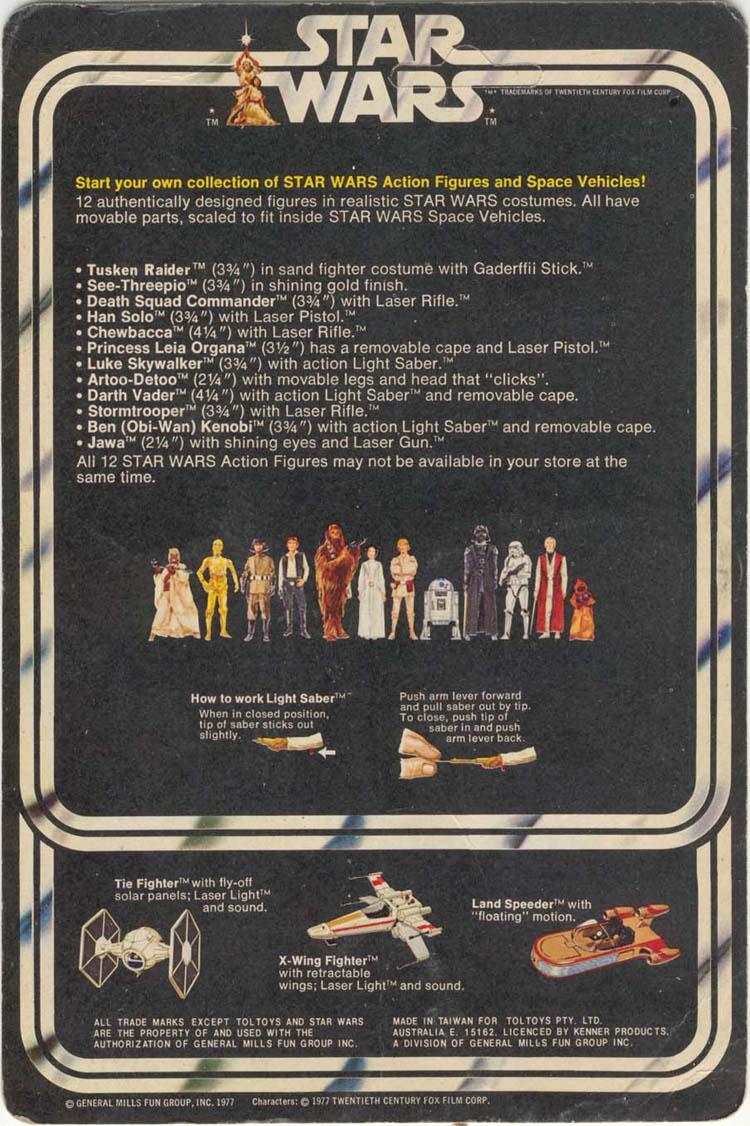 Star Wars 12 back card