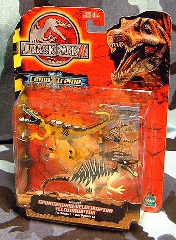 Desert Spinosaurus and Velociraptor