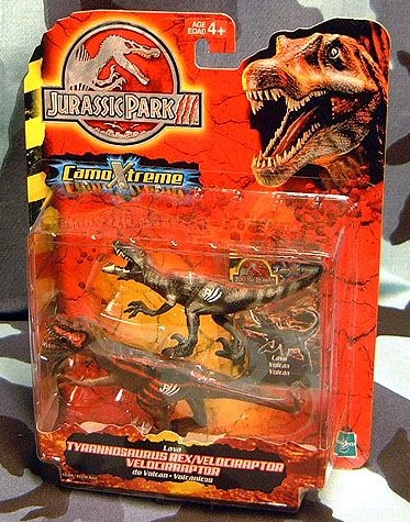 Lava Tyrannosaurus Rex and Velociraptor