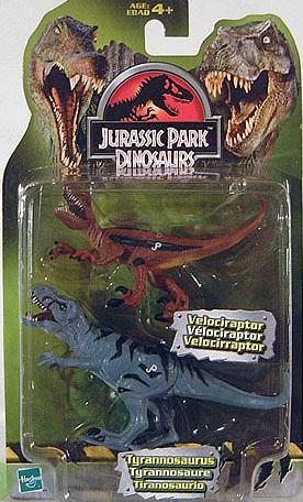 Tyrannosaurus Rex and Velociraptor