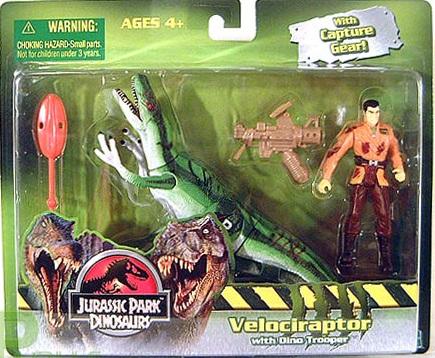 Velociraptor with Dino Trooper
