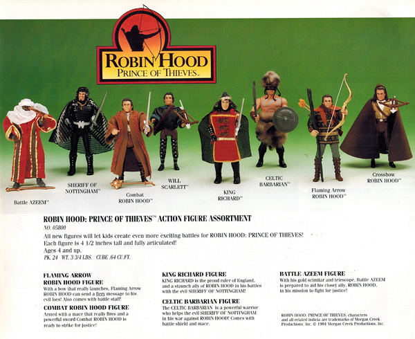 Robin Hood Prince of Thieves Movie Action Figure Sheriff Nottingham Kenner