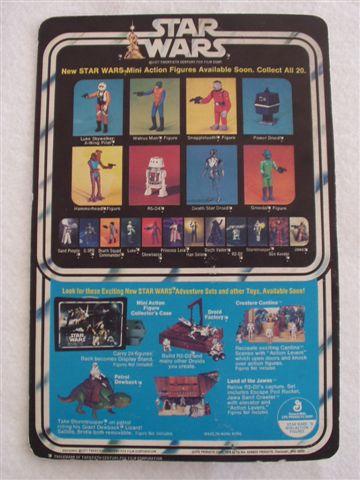 Star Wars 20 back card