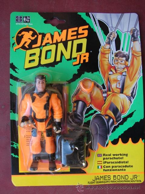 JAMES BOND JR PARACHUTISTE MOC HASBRO 1992